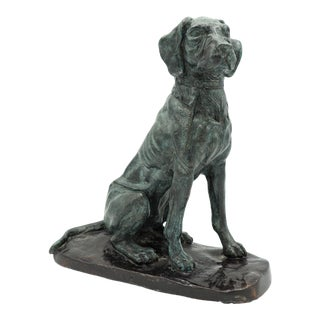 Vintage Maitland-Smith Bronze Sporting Dog For Sale