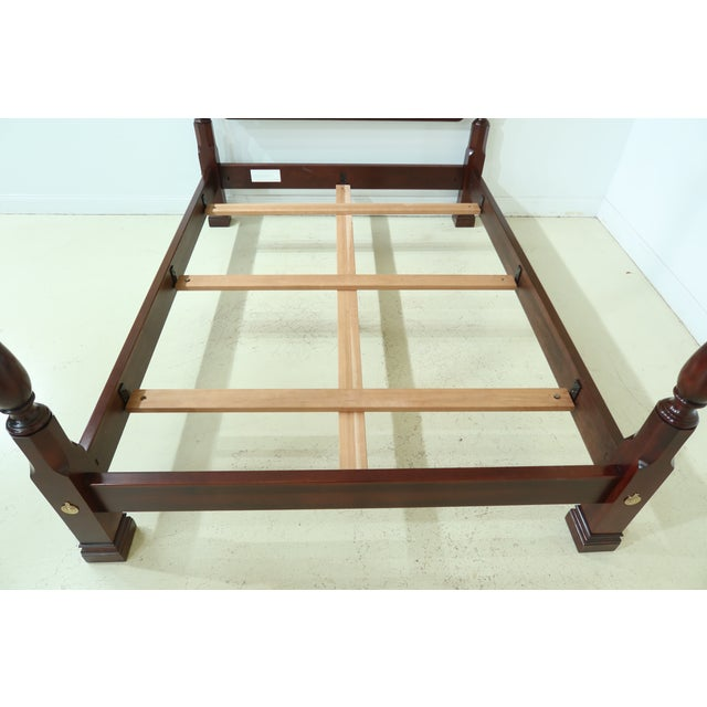 Item: 50187EC: STICKLEY Queen Size Cherry High Back Poster Bed Age: C.2013 Details: High Quality Construction 18 C. Design...