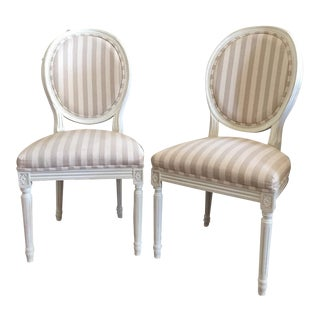 Paris Oval Side Chairs - A Pair For Sale