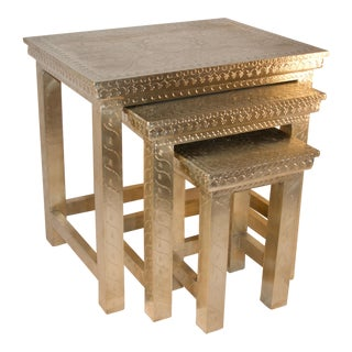 Lotus Nesting Tables - Set of 3 For Sale