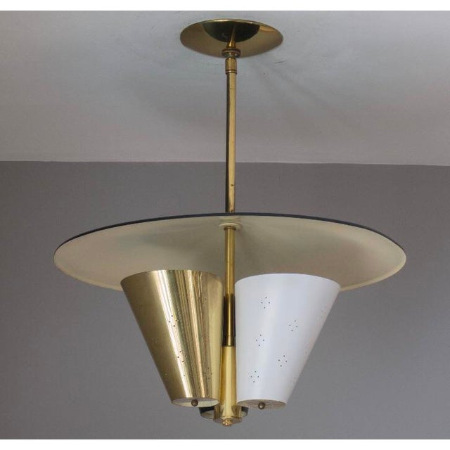 Mid-Century Modern Mid-Century Tricone Reflector Lightolier Fixture For Sale - Image 3 of 4