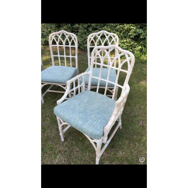 1970s McGuire Bamboo Chinese Chippendale Chairs - Set of 6 For Sale - Image 5 of 13
