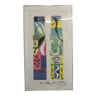 Vintage Framed Matisse Art Poster For Sale