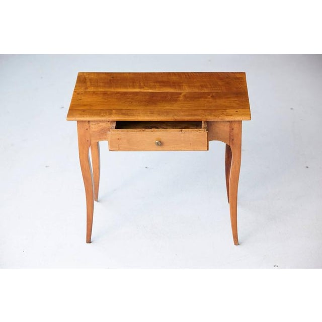Tan 19th Century French Provincial Fruitwood Occasional Table For Sale - Image 8 of 10