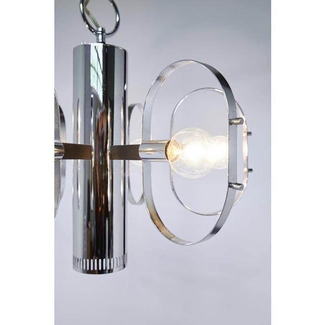 Forecast Lighting Mid-Century Modern 7-Light Chrome Fixture by Forecast Lighting For Sale - Image 4 of 13