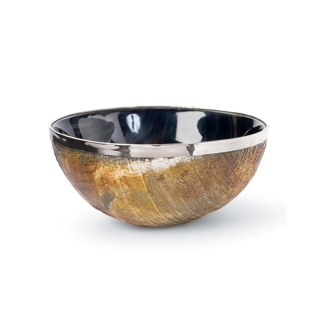 Not Yet Made - Made To Order Polished Horn And Brass Bowl For Sale - Image 5 of 5