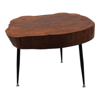 Mid Century Free Form Wood Cocktail of Side Table, Circa 1950