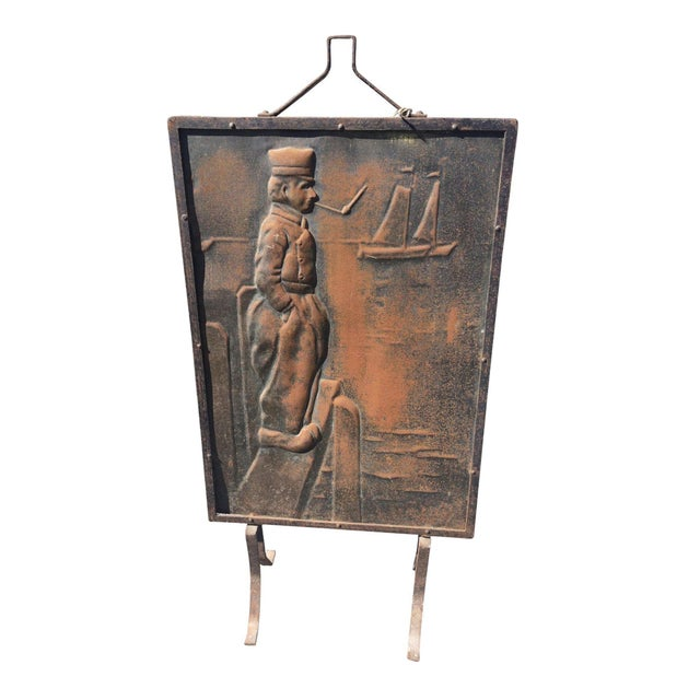 Pressed Iron Fire Screen - Image 1 of 3