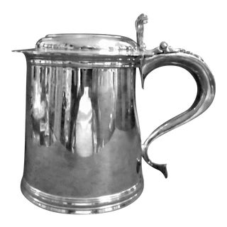 English Sterling Silver Tankard For Sale