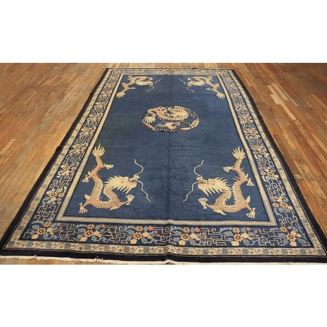 """Chinese Antique Chinese Peking Rug 7'0"""" X11'8"""" For Sale - Image 3 of 9"""