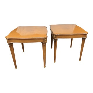 Mid Century Italian Fruit Wood End Tables - A Pair For Sale