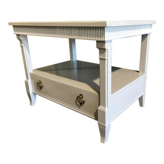 White Vintage Side Tables - A Pair