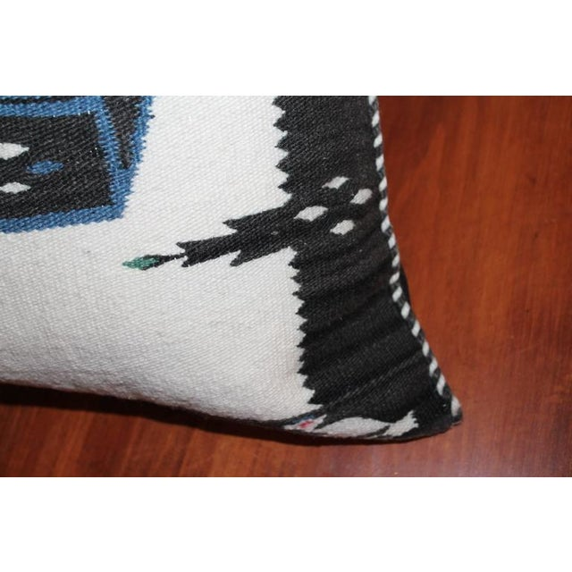 Monumental Chac Mool Mexican/American Indian Weaving Pillow - Image 3 of 4