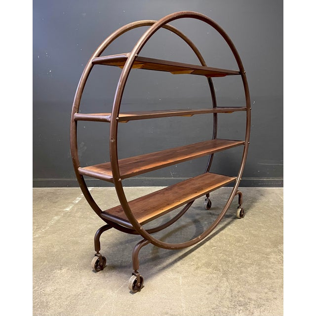 Early 19th Century Antique Round Book Shelf For Sale - Image 5 of 8