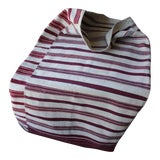 Image of Antique Hutsul Sack Folk Art Textile Pillow Cover Hand Woven With Red Striped For Sale