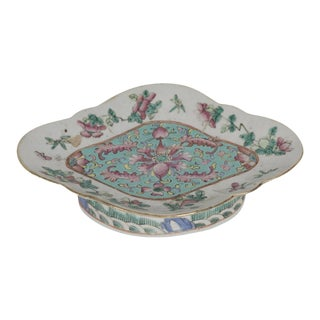 Chinese Porcelain Footed Dish For Sale