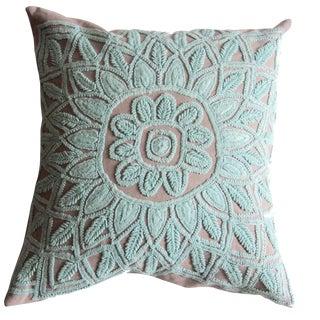 Seafoam Embroidered Pillow Sham