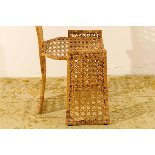 Wicker Fabulous Set of Twelve Rattan Dining Chairs by Danny Ho Fong For Sale - Image 7 of 11
