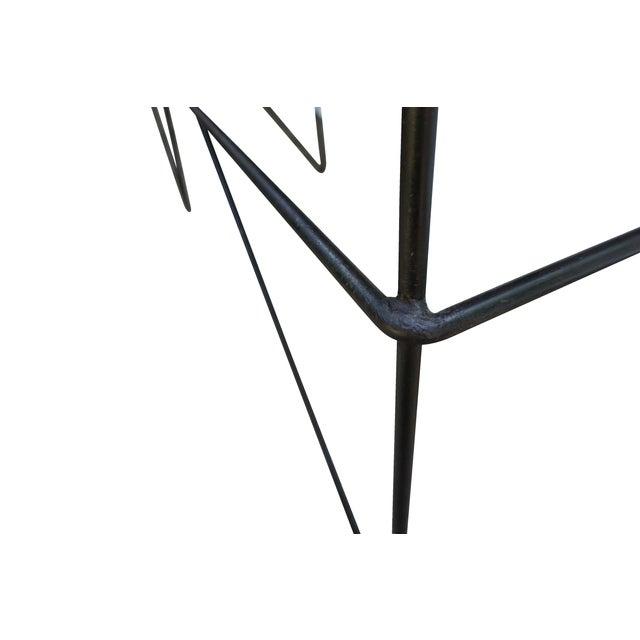 Modern Industrial Steel & Cedar Desk - Image 7 of 8