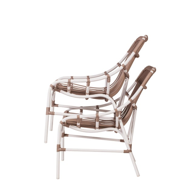 Coronado Stackable Lounge, Café - White For Sale In West Palm - Image 6 of 9