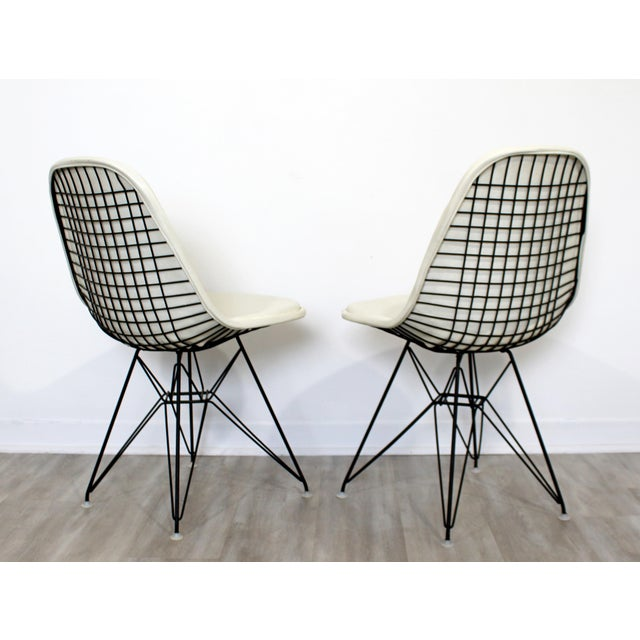 Leather Mid Century Modern Eames Herman Miller Eiffel Tower Dkr Side Chairs 60s - Set of 6 For Sale - Image 7 of 11