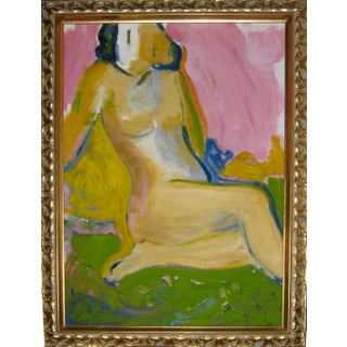 Late 1960's Abstract Nude Figure Painting