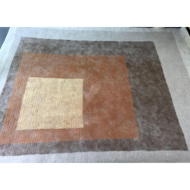 Contemporary Peace Industry Handmade Rug - 8' x 10' For Sale - Image 3 of 8