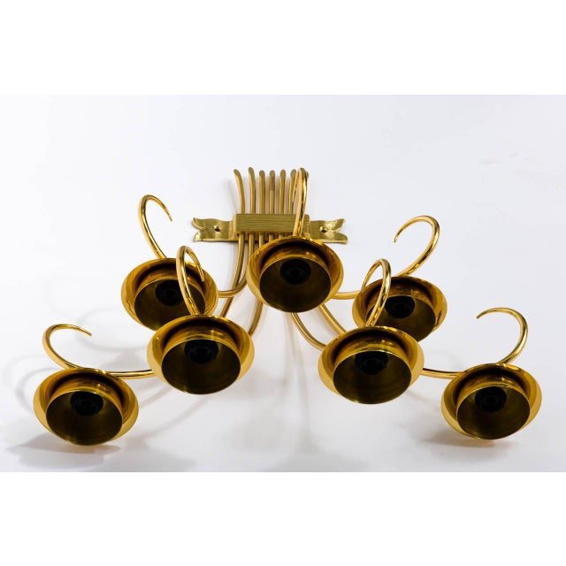 Brass Brass Sconces Wall Lights in the Manner of Tommi Parzinger For Sale - Image 8 of 10