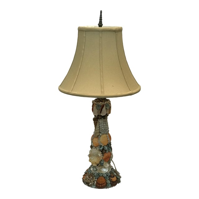 Vintage Nautical Shell Lamp For Sale