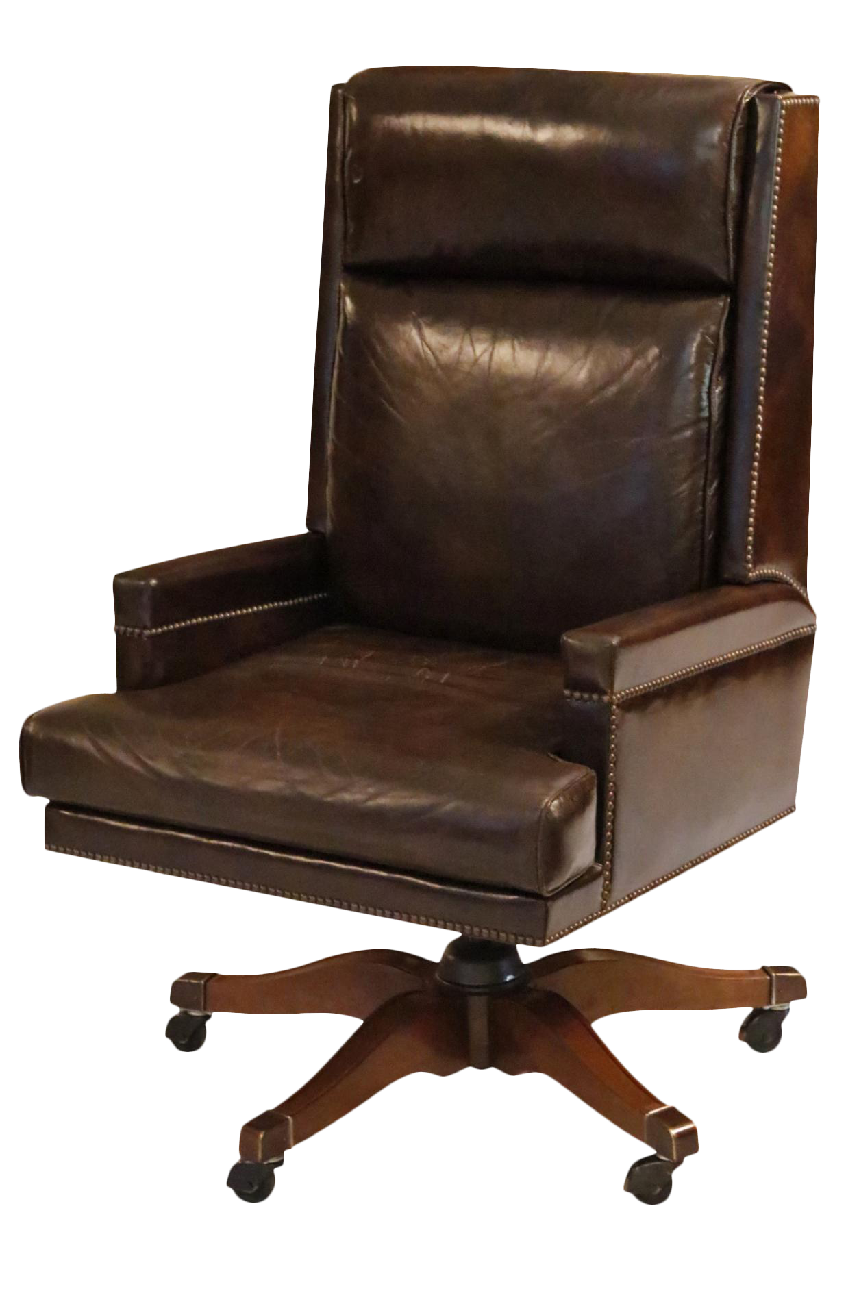 Executive Leather Desk Chair By Baker Furniture