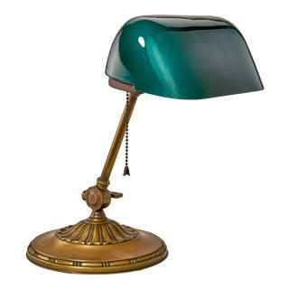 Emeralite Art Deco Desk Lamp For Sale