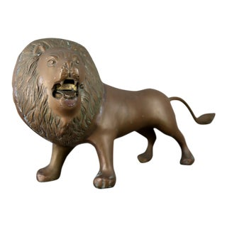 Large Vintage Brass Lion For Sale
