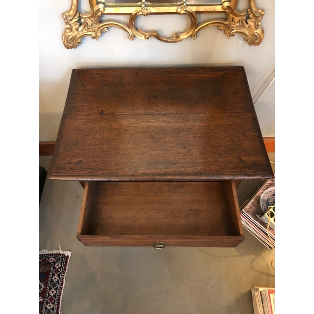 Wood 19th Century Traditional William & Mary Revival English Oak Table with Drawer For Sale - Image 7 of 12