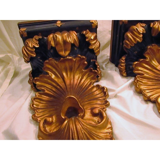 Baroque Style Wall Shelves Brackets - A Pair - Image 3 of 4