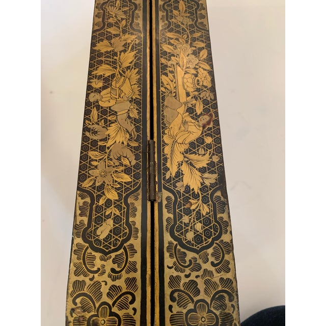 Chinese Hand Painted Lacquered Game Board For Sale - Image 10 of 13