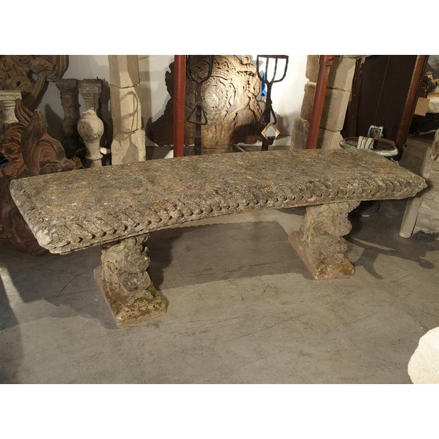 Circa 1900 Reconstituted Stone Dolphins Bench From France For Sale - Image 13 of 13