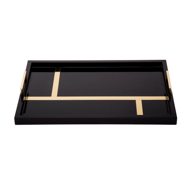 Handmade high gloss lacquer with polished brass