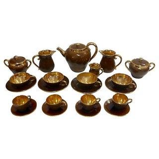 Italian Tea Service Set by Zaccagnini - 22 Pieces For Sale