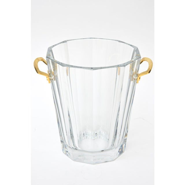 This vintage beautiful signed french Baccarat ice bucket is from the maxim series of the 70's. It is now on the rare side....