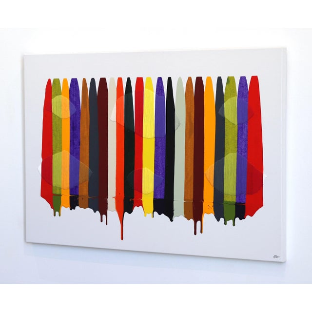 """Fils I Colors Cccxcii"" Original Artwork by Raul De La Torre For Sale In Los Angeles - Image 6 of 9"