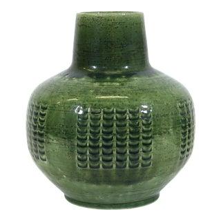 Per Linnemann-Schmidt for Palshus Danish Modern Green Glaze Ceramic Vase For Sale