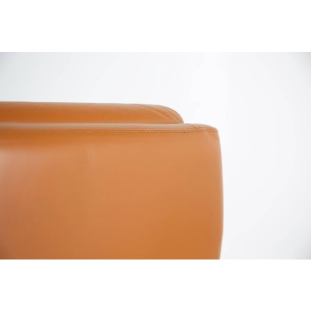 Pair of Leather and Steel Lounge Chairs by Raphael, France, Circa 1970 For Sale In Los Angeles - Image 6 of 13
