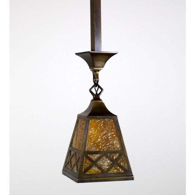 Arts & Crafts Style Pendant Fixture. For Sale In Washington DC - Image 6 of 7