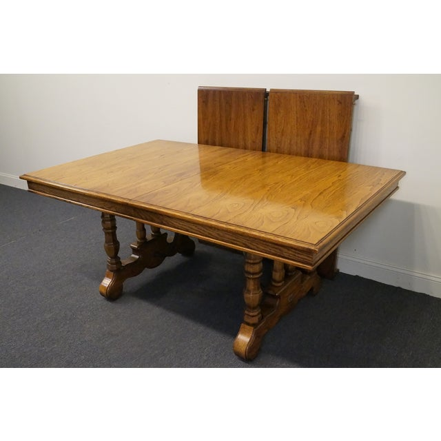 Spanish 20th Century Spanish Revival Thomasville Segovia Dining Table For Sale - Image 3 of 11