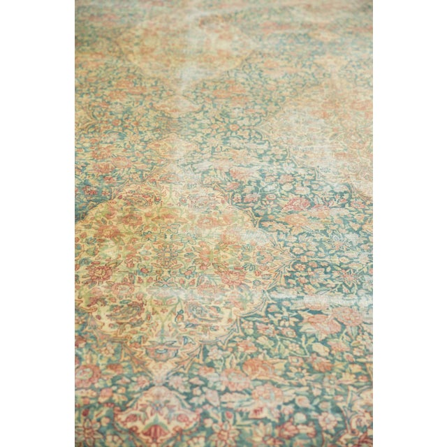 1940s Vintage Distressed Kerman Carpet - 10' X 16' For Sale - Image 5 of 13