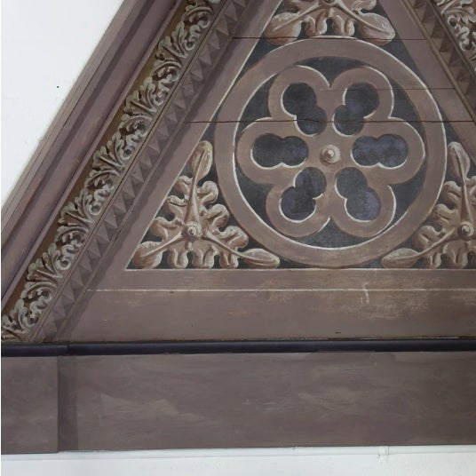 Mid 20th Century Pair of Triangular Italian Architectural Elements For Sale - Image 5 of 5