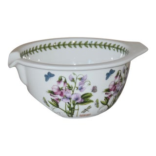 Portmeirion Botanic Garden Grip Sweet Pea Stand Mixing Bowl by Susan Williams-Ellis, England For Sale