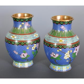 Vintage Chinese Cloissone Vases - A Pair Preview