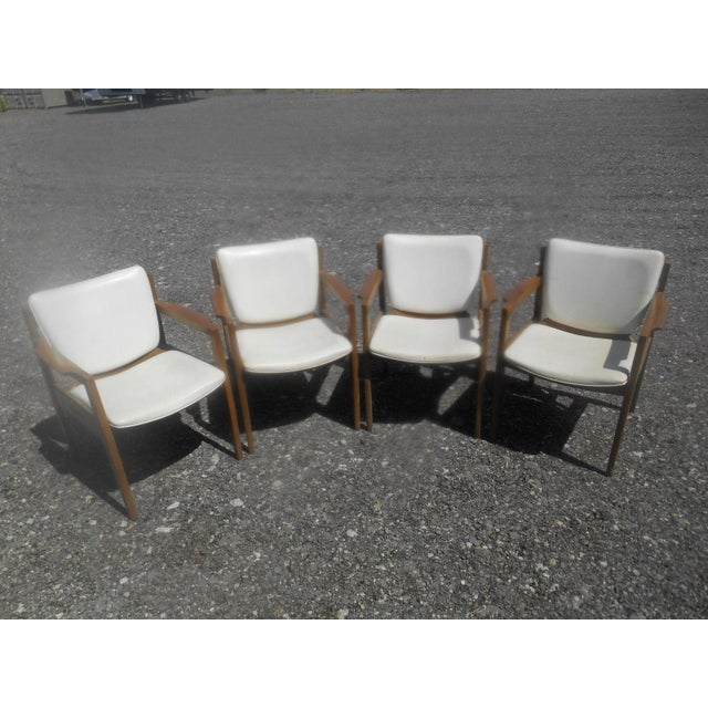 1960s Vintage 1960's Thonet Mid-Century Modern Maple Dining / Side Chairs-Set of 4 For Sale - Image 5 of 10