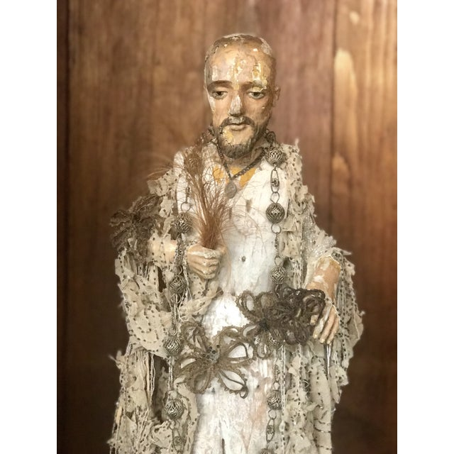 Early 20th Century Italian Santos Carved Wood Figure For Sale - Image 5 of 12